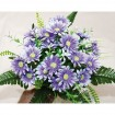 Bouquet with 28 flower heads and 21 leaves