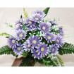Blumenstrauß m. 28 Blütenköpfen u. 21 Blättern