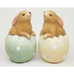 Hase aus Keramik im Ei sitzend 10,5x7x7cm
