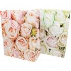 Gift bag 23x18cm rose design, 2 assorted