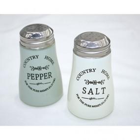 Salz- u.Pfefferstreuer Country aus Glas, 9x6cm